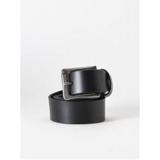 Element POLOMA black pánský kožený opasek - L/XL