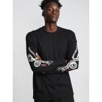 Element SNAKES FLINT BLACK pánské tričko s dlouhým rukávem - XL