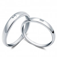 OLIVIE Snubní prsten ze stříbra 2973 Velikost prstenů: 7 (EU: 54 - 56)