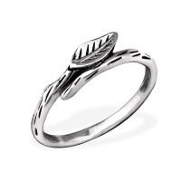 OLIVIE Stříbrný prsten LÍSTEK 0656 Velikost prstenů: 7 (EU: 54 - 56)