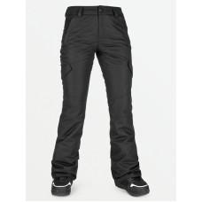 Volcom Bridger Ins black zateplené kalhoty dámské - XS