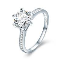 OLIVIE Zásnubní stříbrný prsten 2905 Velikost prstenů: 8 (EU: 57 - 58)