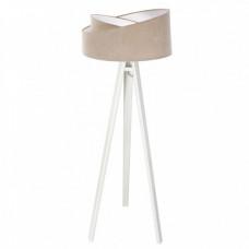 Stojací lampa Awena béžová + bílý vnitřek + bílé nohy