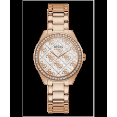 GUESS hodinky Rose Gold Tone Case Rose Gold Tone Stainless Steel Watch vel.