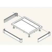 SanSwiss PWIU 90 160 90 04 Přední panel U hliníkový pro obdélníkovou vaničku 90×160 cm - bílý
