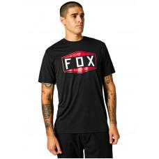 Fox Emblem Tech black pánské tričko s krátkým rukávem - L