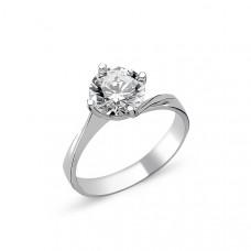 OLIVIE Stříbrný solitérní prsten se zirkonem1265 Velikost prstenů: 7 (EU: 54 - 56)