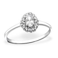 OLIVIE Stříbrný prsten se zirkonem 0670 Velikost prstenů: 6 (EU: 51 - 53)