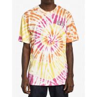 RVCA SWERVE PINK HAZE pánské tričko s krátkým rukávem - XL