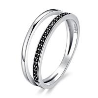 OLIVIE Stříbrný prsten ČERNÁ LINIE 3392 Velikost prstenů: 7 (EU: 54 - 56)