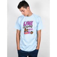 Line Keeping POWDER BLUE pánské tričko s krátkým rukávem - S