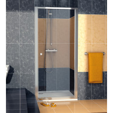 SanSwiss ECOP 0900 50 07 Jednokřídlé dveře 90 cm, aluchrom/sklo