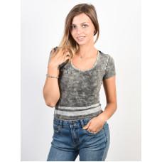 RVCA GIRL CRUSH black dámské tričko s krátkým rukávem - S
