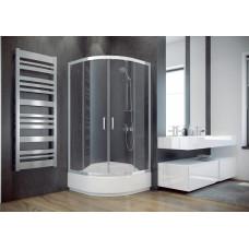 MODERN čtvrtkruhová sprchová zástěna 80x80x165cm