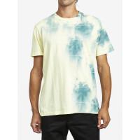 RVCA DELIRIUM CREW GREEN TIE DYE pánské tričko s krátkým rukávem - M