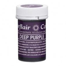 Sugarflair Gelová barva Tmavě fialová (Deep purple) 25g