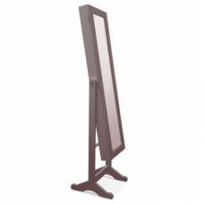 Zrcadlo s úložným prostorem MIROR tmavě hnědá - TempoKondela