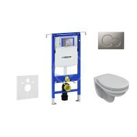 Geberit Sada pro závěsné WC + klozet a sedátko softclose Ideal Standard Quarzo - sada s tlačítkem Sigma01, matný chrom 111.355.00.5 ND3