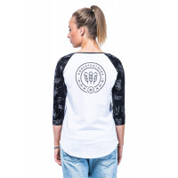 Horsefeathers MEGAN white dámské tričko s dlouhým rukávem - XS