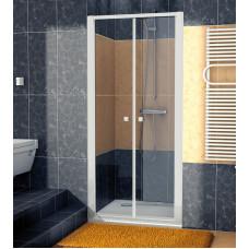 SanSwiss ECP2 0700 01 07 Dvoukřídlé dveře 70 cm, matný elox/sklo