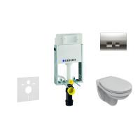 Geberit Sada pro závěsné WC + klozet a sedátko Ideal Standard Quarzo - sada s tlačítkem Delta50, chrom 110.100.00.1 NR5