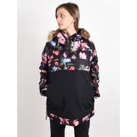 Roxy SHELTER TRUE BLACK BLOOMING PARTY zimní bunda dámská - L