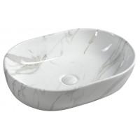 SAPHO - DALMA keramické umyvadlo 59x42x14 cm, carrara (MM417)
