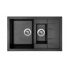Sinks Kuchyňský dřez Crystal 780.1 Metalblack