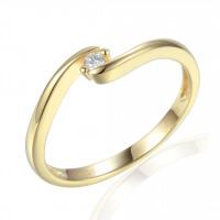 Couple Zlatý dámský prsten Brennon 3810726 Velikost prstenu: 56