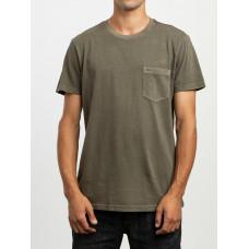 RVCA PTC 2 PIGMENT olive pánské tričko s krátkým rukávem - M