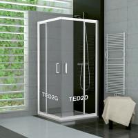 SanSwiss TED2D 1200 04 07 Pravý díl sprchového koutu 120 cm, bílá/sklo
