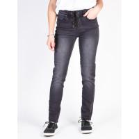 Billabong SIDE BY SIDE BLACK PEBBLE značkové dámské džíny - 28