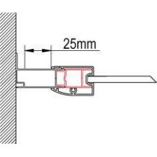 SanSwiss ACT1.01.1898 Rozšiřovací profil o 25 mm, výška 1898 mm, matný elox ACT1189801