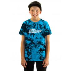 Horsefeathers FLASH BLUE TIE DYE dětské tričko s krátkým rukávem - XL