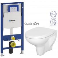 GEBERIT - SET Duofix pro závěsné WC 111.300.00.5 bez ovládací desky + WC CERSANIT ARTECO CLENON + SEDÁTKO (111.300.00.5 AT1)