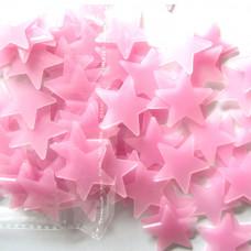 Svítící fosforové růžové hvězdičky 80 ks