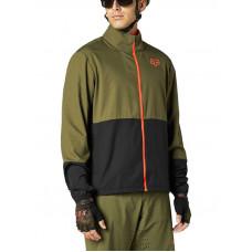 Fox RANGER Olive Green cyklistická bunda - XXL