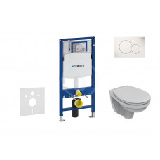 Geberit Sada pro závěsné WC + klozet a sedátko Ideal Standard Quarzo - sada s tlačítkem Sigma01, bílé 111.300.00.5 NR1