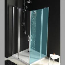 GELCO - ONE sprchové dveře s pevnou částí 900 mm, čiré sklo (GO4890)