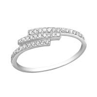 OLIVIE Stříbrný prsten se zirkony 2484 Velikost prstenů: 6 (EU: 51 - 53)