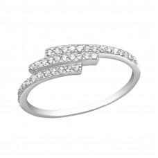 OLIVIE Stříbrný prsten se zirkony 2484 Velikost prstenů: 7 (EU: 54 - 56)