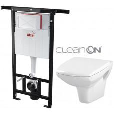 ALCAPLAST - SET Jádromodul - předstěnový instalační systém + WC CERSANIT CLEANON CARINA (AM102/1120 X CA1)