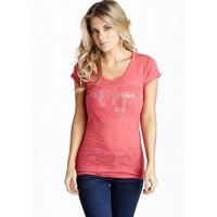 GUESS tričko Marion ružové vel. XL