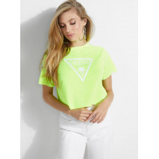 GUESS tričko Cropped Neon Beach Tee yellow vel. XS