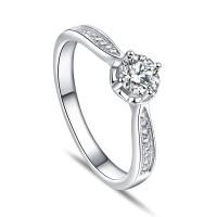 OLIVIE Zásnubní stříbrný prsten PARIS 5080 Velikost prstenů: 8 (EU: 57-58)