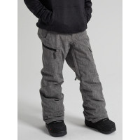 Burton EXILE CARGO BOG HEATHER zateplené kalhoty dětské - L