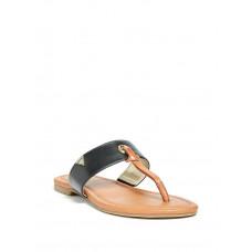 GUESS sandálky Luelle T-Strap Flat Sandals hnědé vel. 37,5