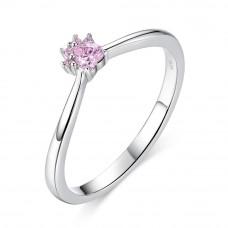 OLIVIE Stříbrný prsten RŮŽOVÁ TLAPKA 3452 Velikost prstenů: 8 (EU: 57 - 58)