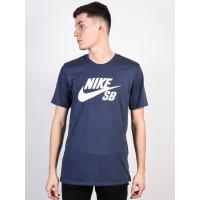 Nike SB LOGO BLUE/WHITE pánské tričko s krátkým rukávem - XXL