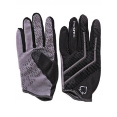 Pro Tec HANDS DOWN Black-Gray cyklistické rukavice - S